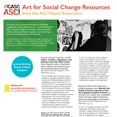 Art for Social Change Resources from ASC! Project Researchers